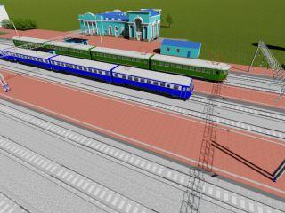Подробная 3d модель поселка и станции Кропачево