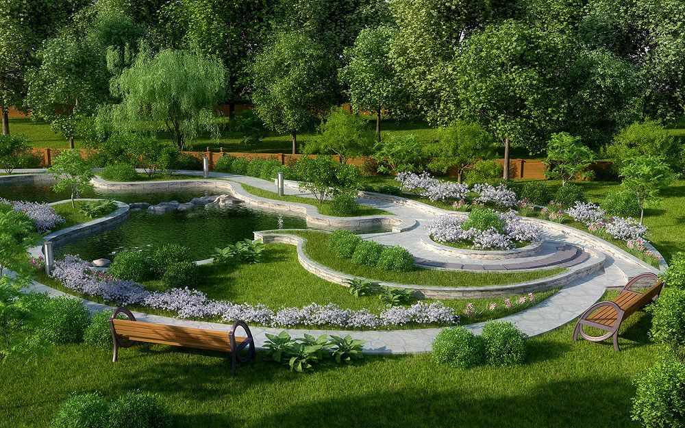 At The Stage Of Designing A Landscape Designer Should Maximize Show Not  Only Their Creative Skills Of The Artist And 3D Graphics, But, First Of  All, ... Part 79