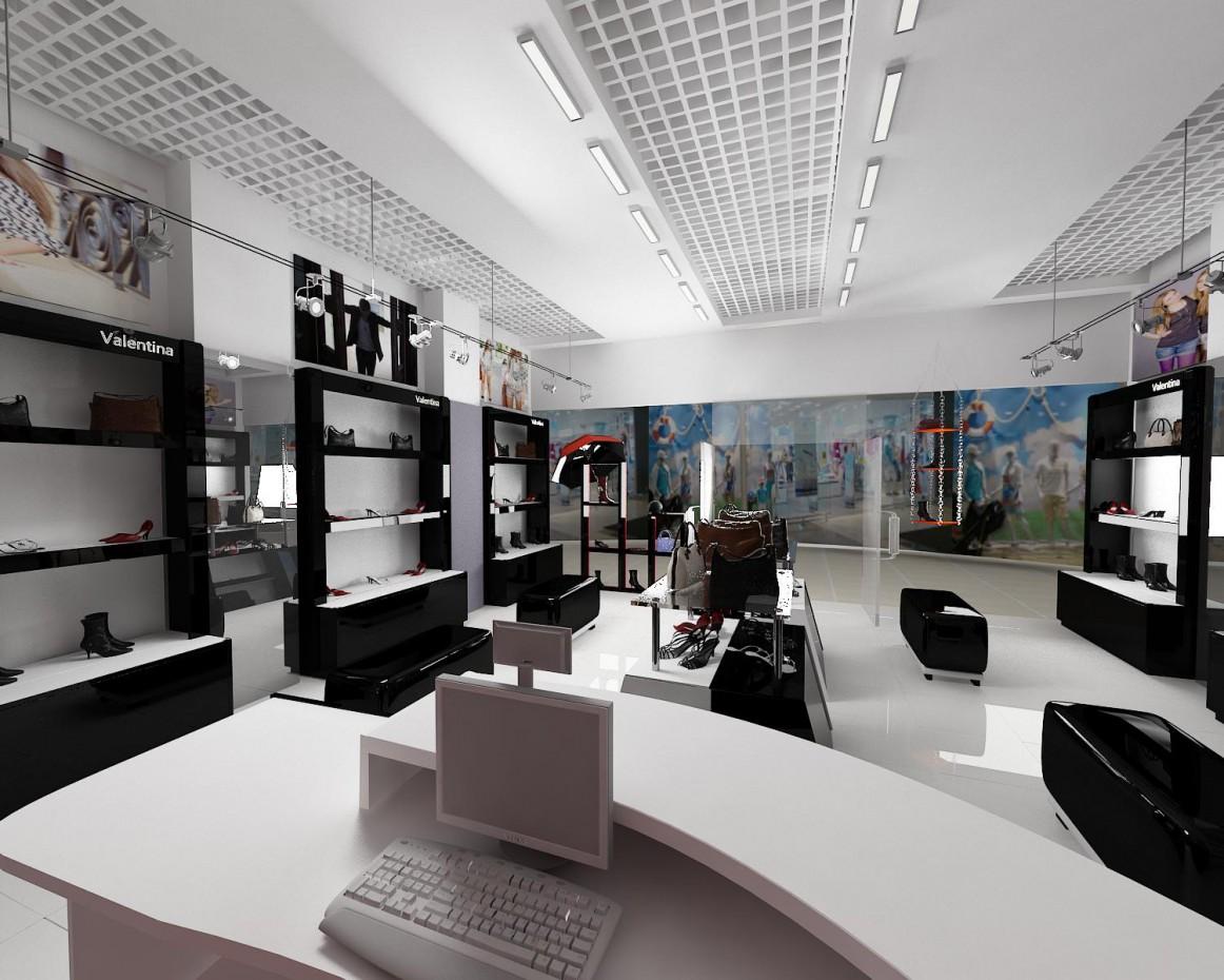 Магазин обуви в 3d max vray изображение