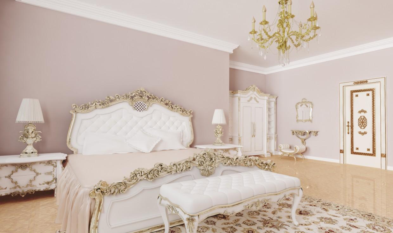 imagen de Dormitorio clásico en 3d max vray