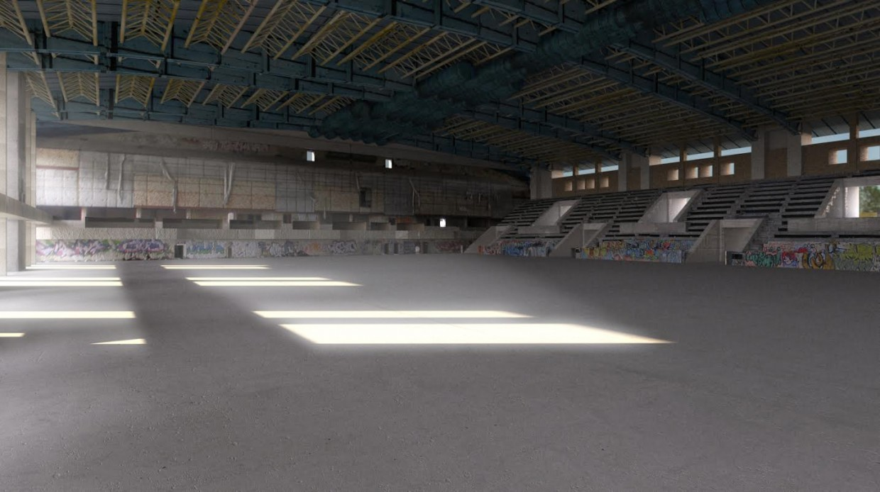 Abandoned ice palace. ENEA. Kiev in 3d max Other image