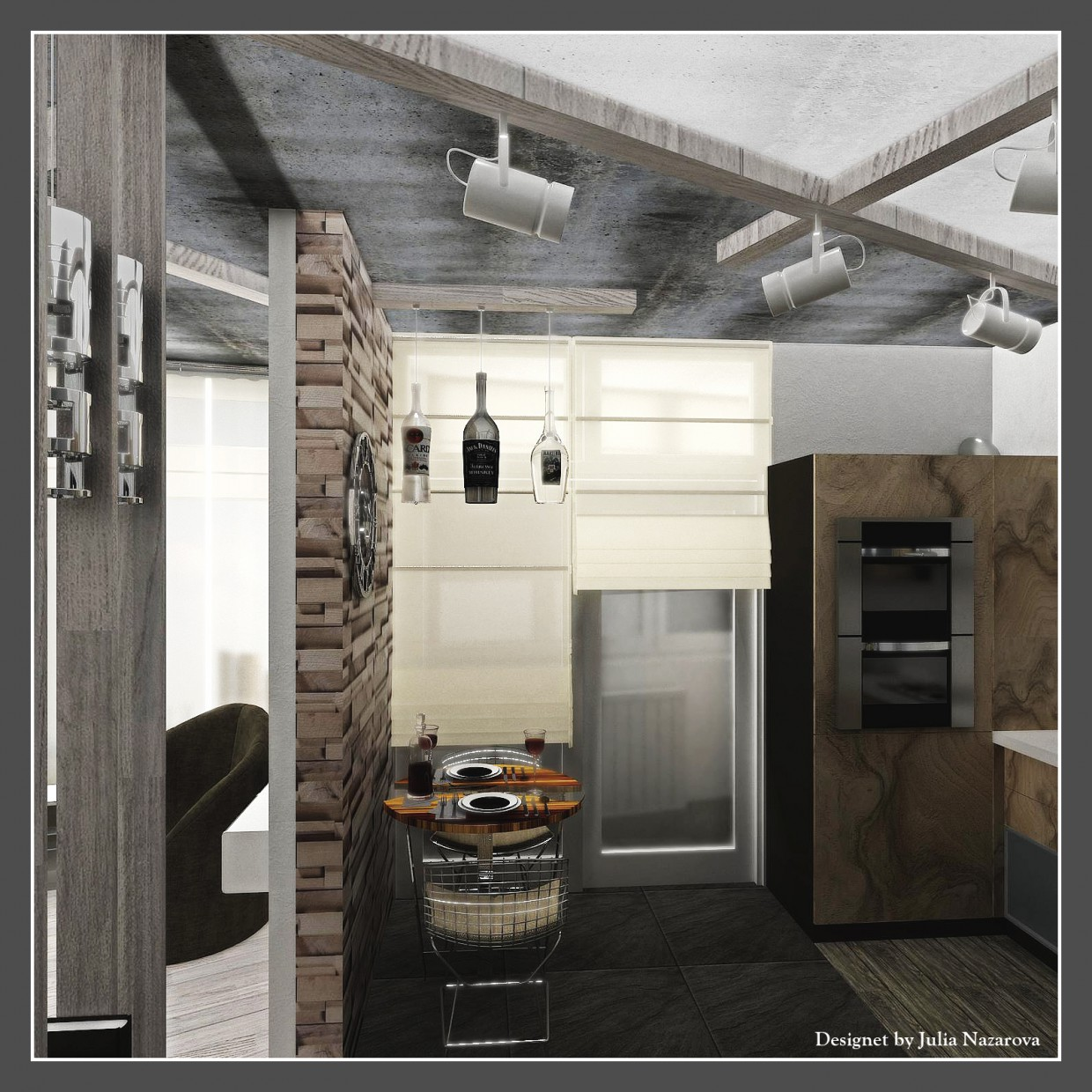 3d visualization of the project in the Kitchen 3d max, render vray 2.0 of jul-eta2009