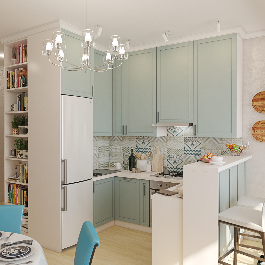 Design of a kitchen in 3d max vray 3.0 image