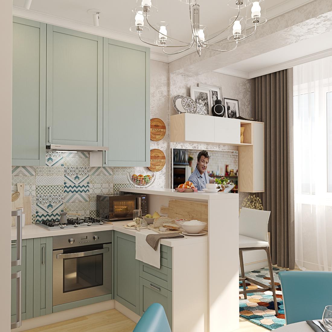 Дизайн кухні в 3d max vray 3.0 зображення