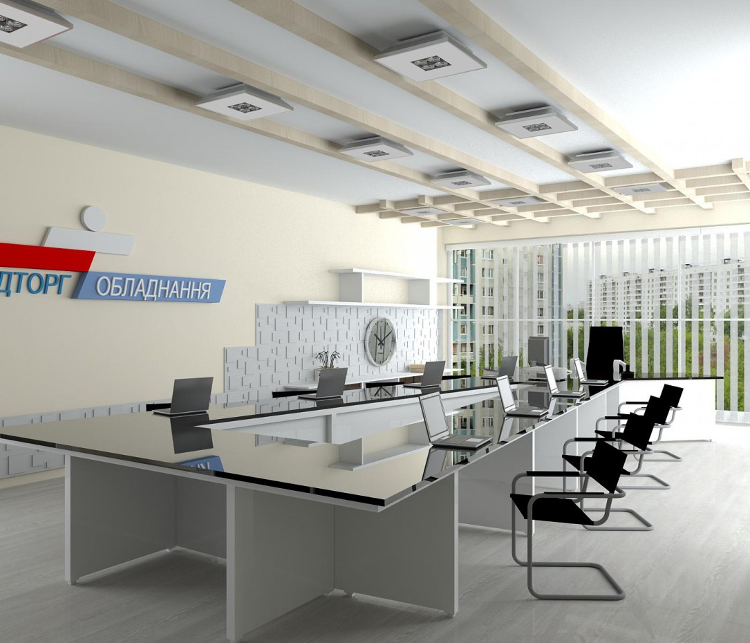 3d visualization of the project in the Office + meeting room 3d max, render vray of Olg@