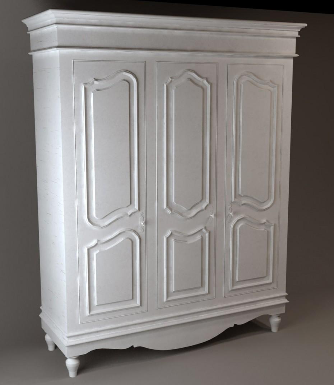 3d визуализация проекта Шкаф платяной трехдверный в 3d max, рендер vray от Diana_DI