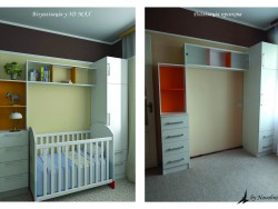 Furniture wall in the nursery