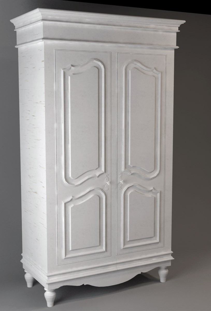 3d visualization of the project in the Two door wardrobe 3d max, render vray of Diana_DI