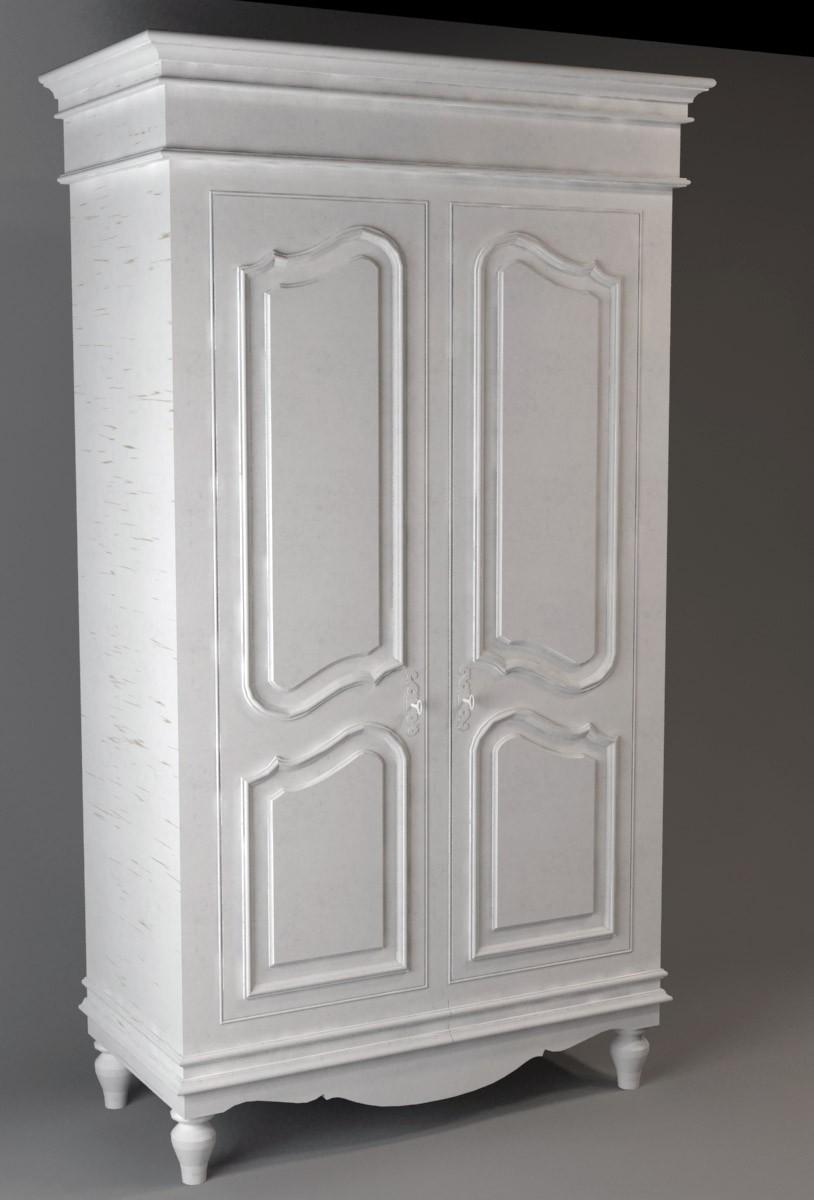 Two door wardrobe in 3d max vray image