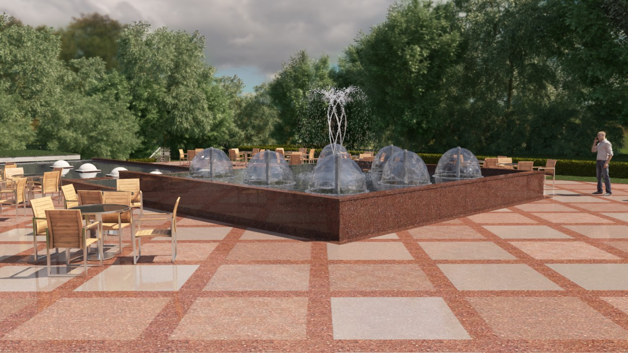 Fountain Park House in 3d max corona render image