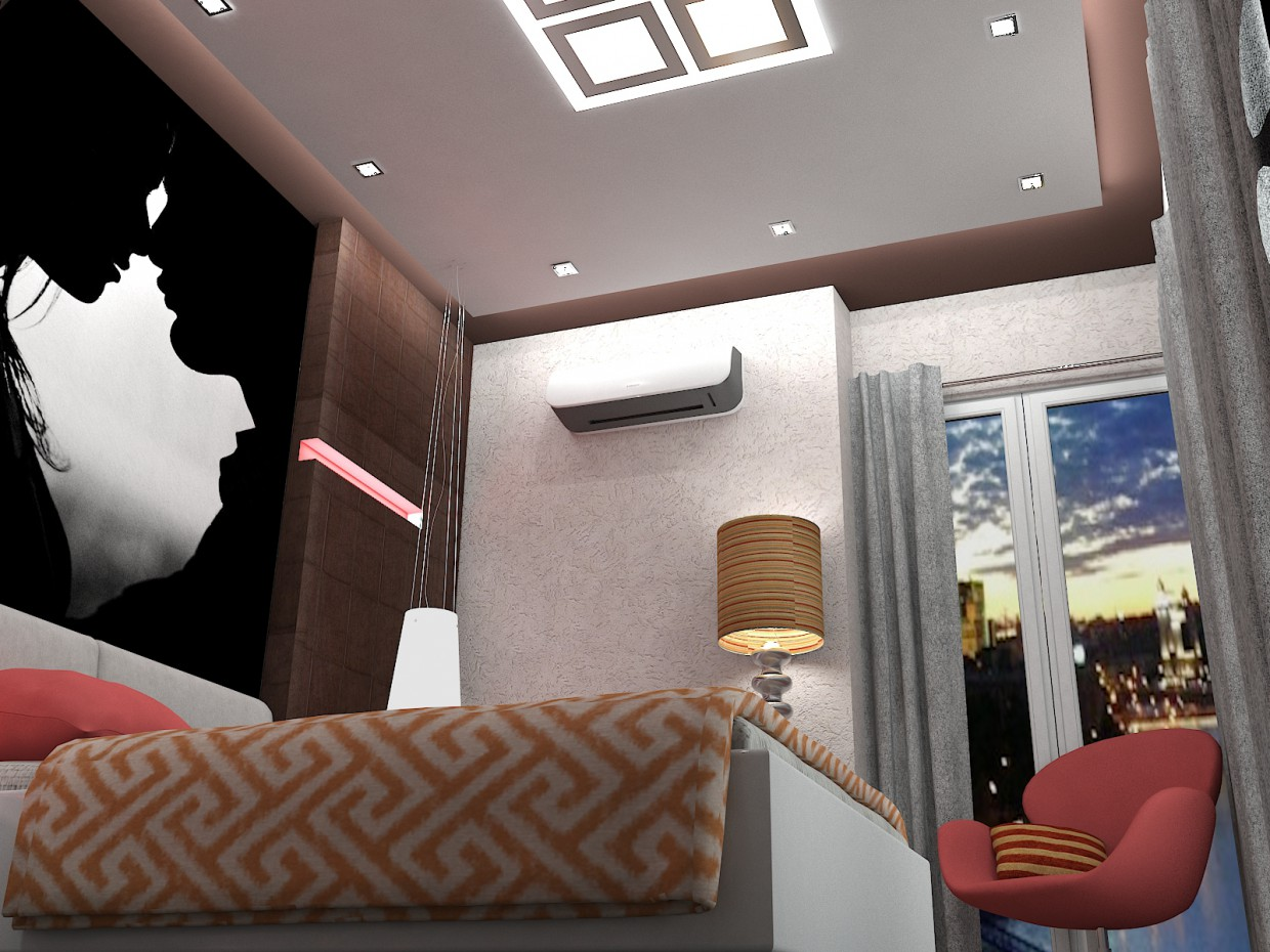 Bedroom for lovers :)) in 3d max vray image