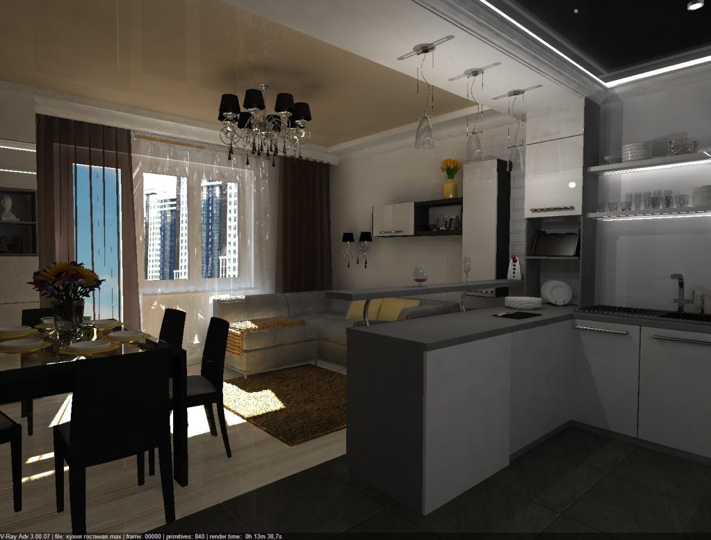 Kitchen-Livingroom in 3d max vray 3.0 image