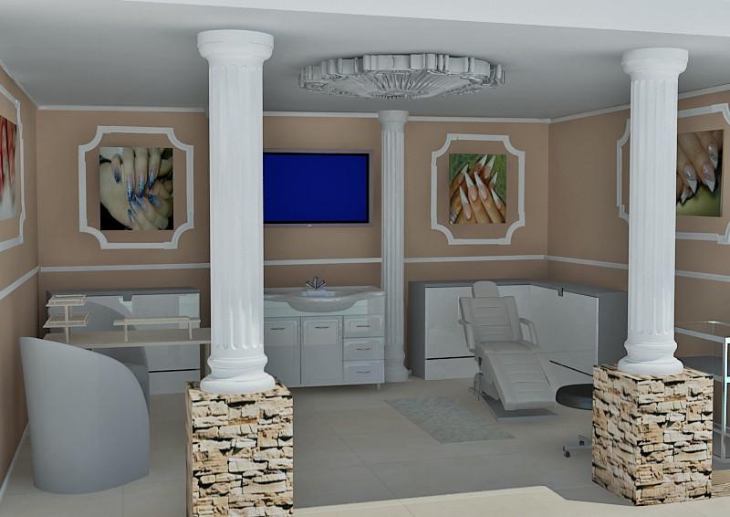 Интерьер салона красоты в 3d max vray изображение