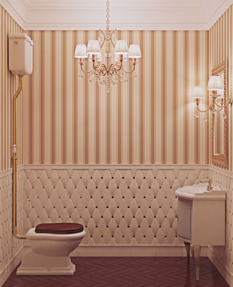 Classic bathroom in 3d max vray image