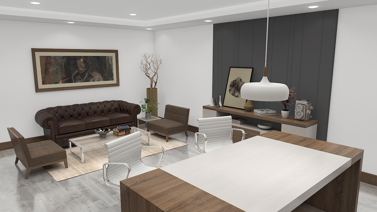 Executive Room in 3d max vray 3.0 image
