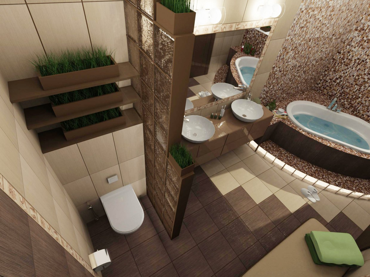 3d visualization of the project in the Coca chocolate 3d max, render vray of Евгения INDI