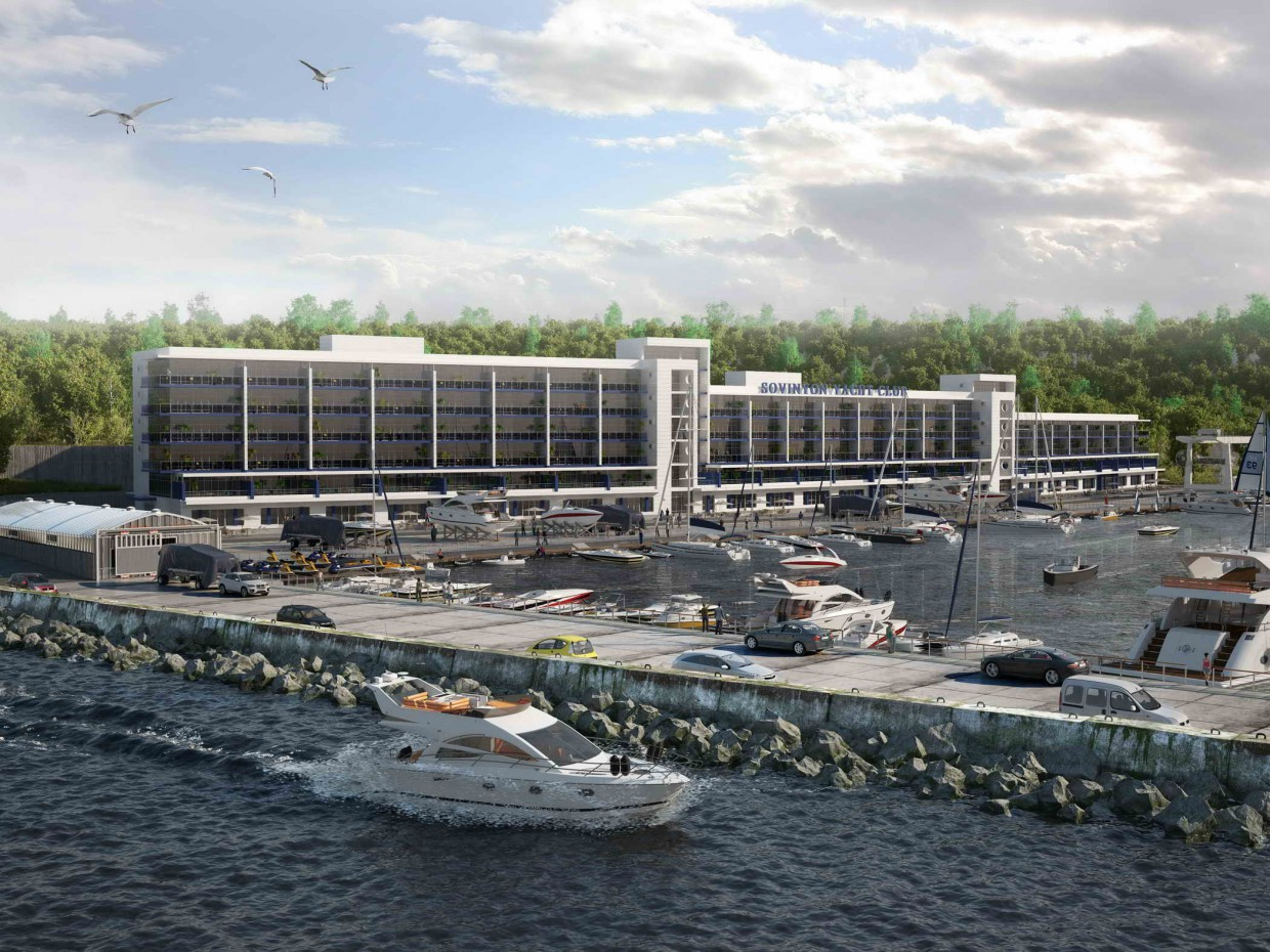 Yacht club  in  3d max   vray  image