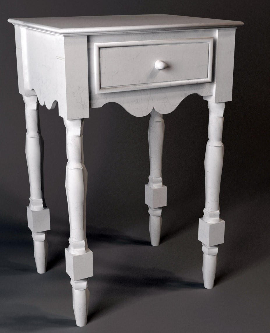 Bedside Cabinet in 3d max vray image
