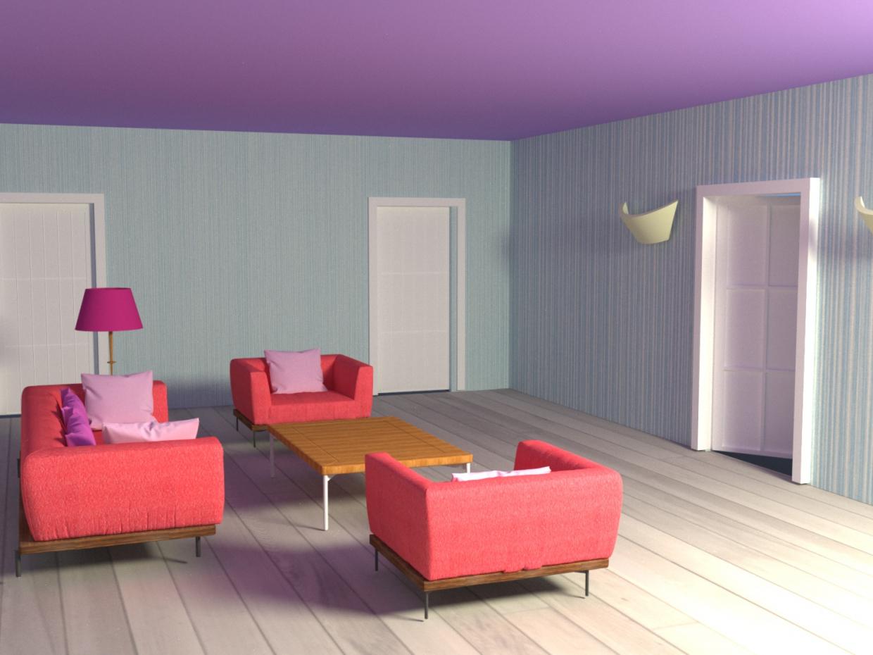 Salon dans 3d max vray 3.0 image