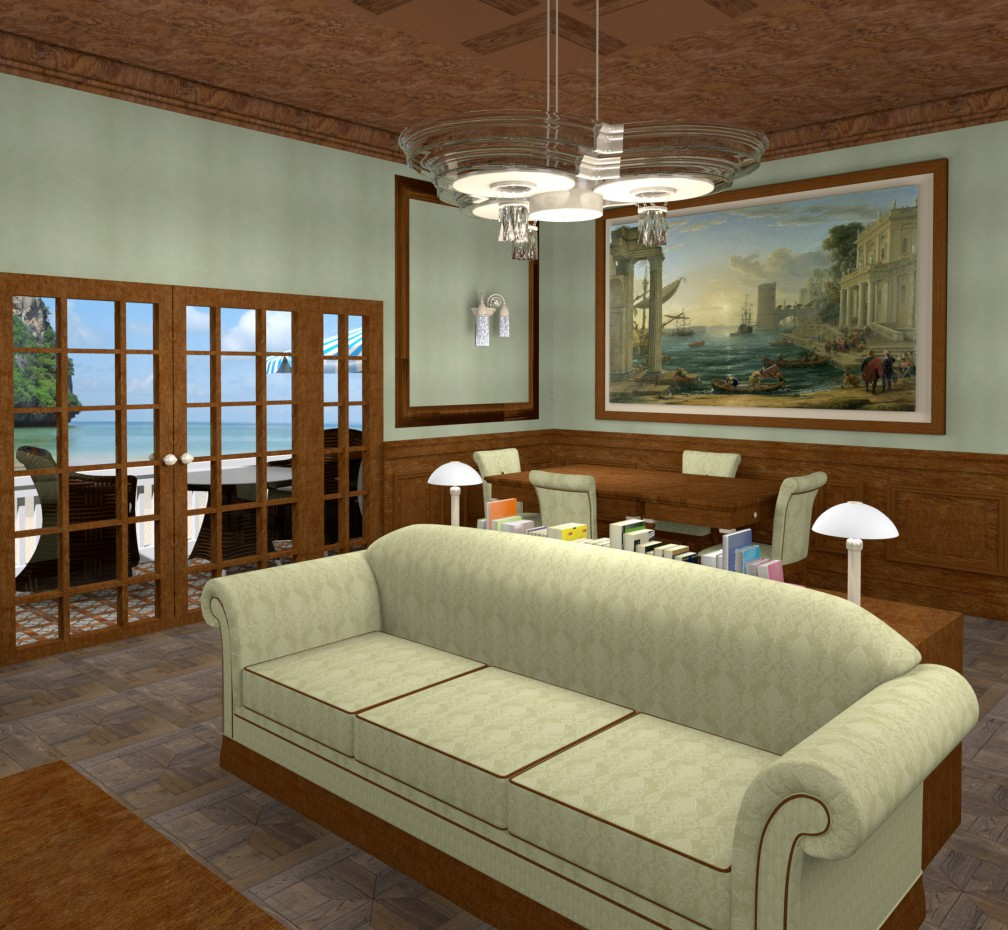 3d visualization of the project in the Classical living room Other thing, render Other of Helena Che