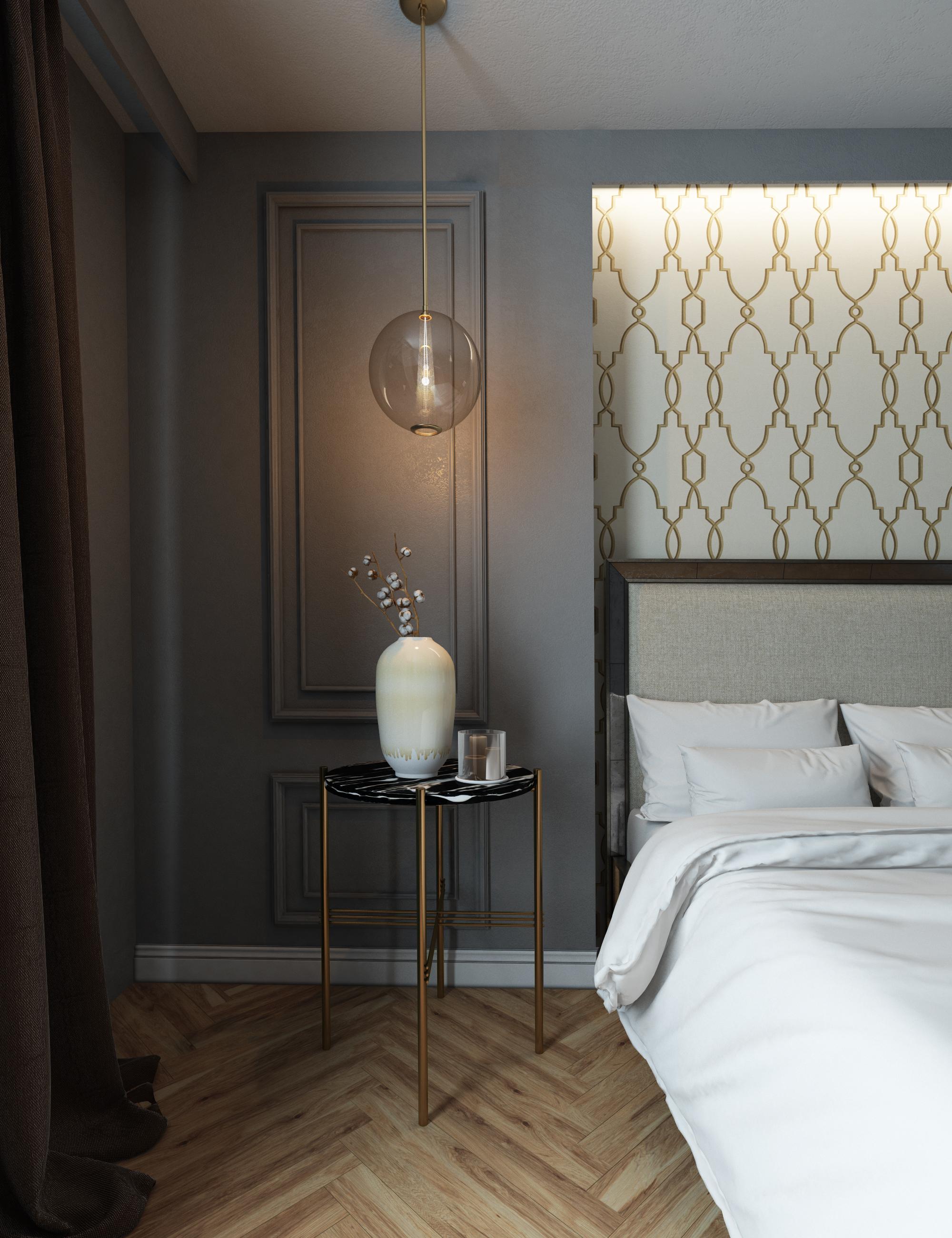 Спальня в 3d max vray 3.0 изображение