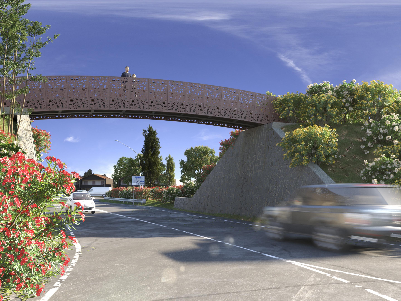 पोंटे एन मोंटाल्टो डि कास्त्रो 3d max vray 3.0 में प्रस्तुत छवि