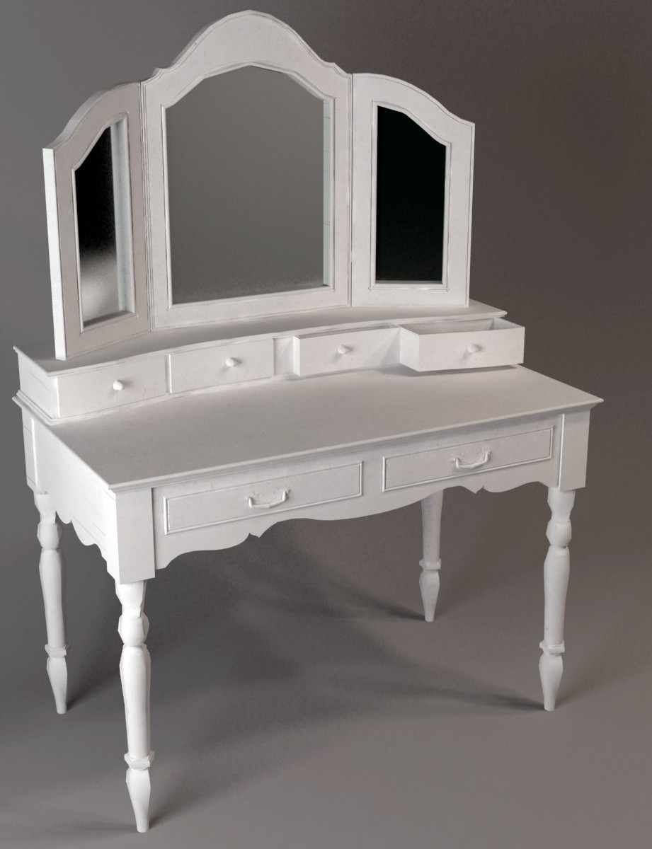 Dressing table in 3d max vray image