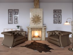 Visualization of the fireplace