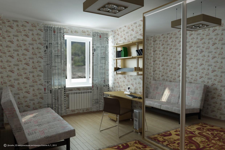 Кімната школяра 2 в 3d max vray зображення
