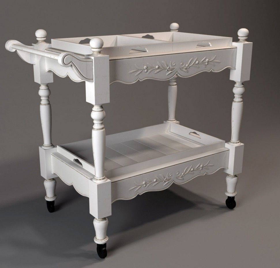 serving table in 3d max vray image