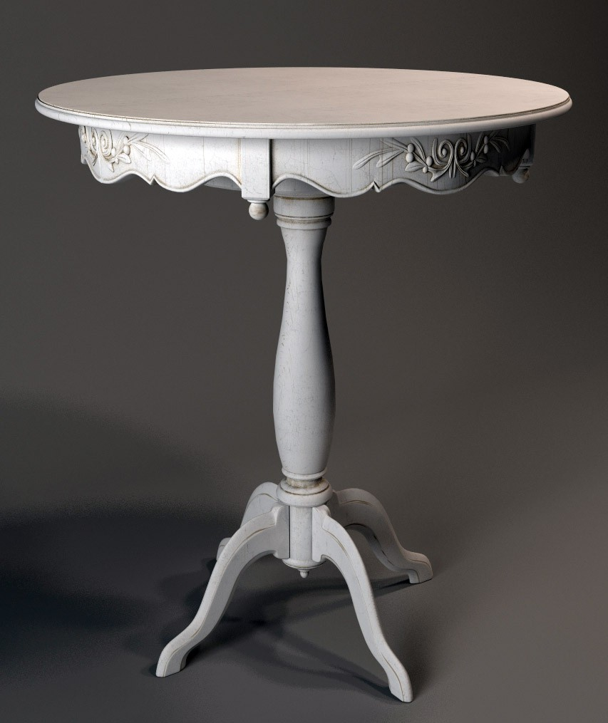 Dining table in 3d max vray image