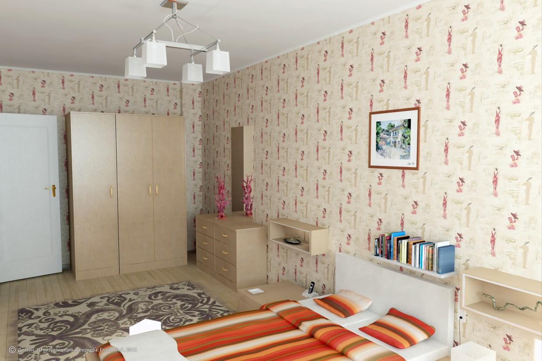 3d візуалізація проекту Спальня в 3d max, рендер vray від jof_e