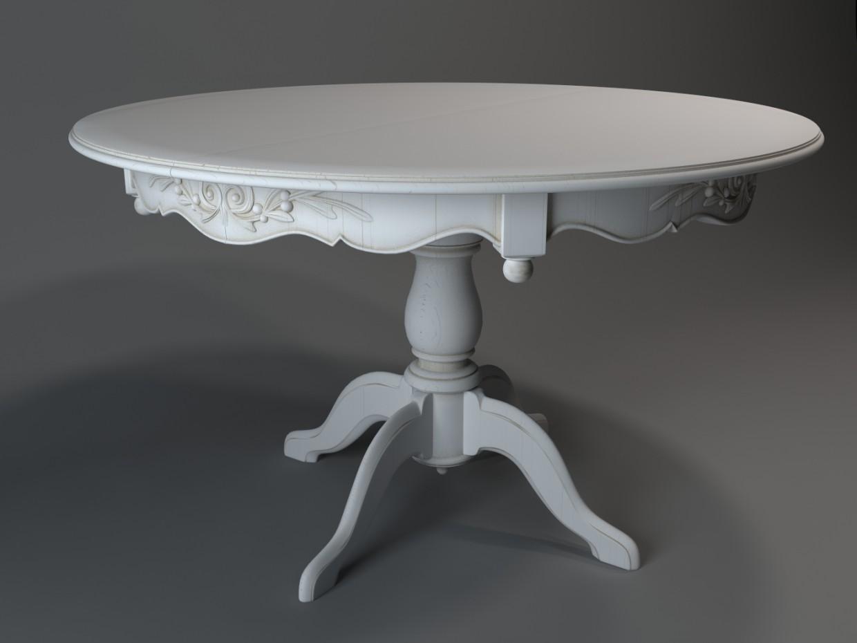 Столик обеденный в 3d max vray изображение