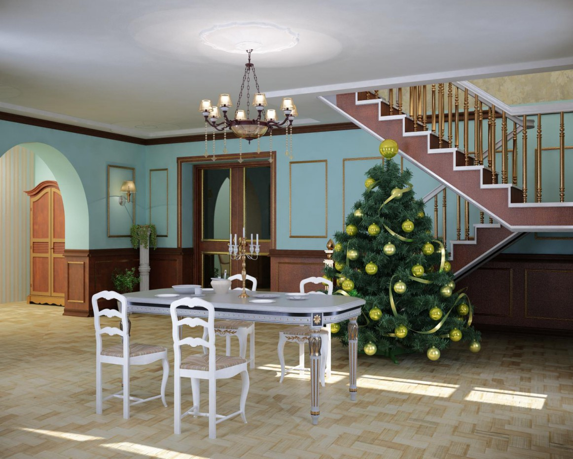 new year's Eve in 3d max vray 2.0 image
