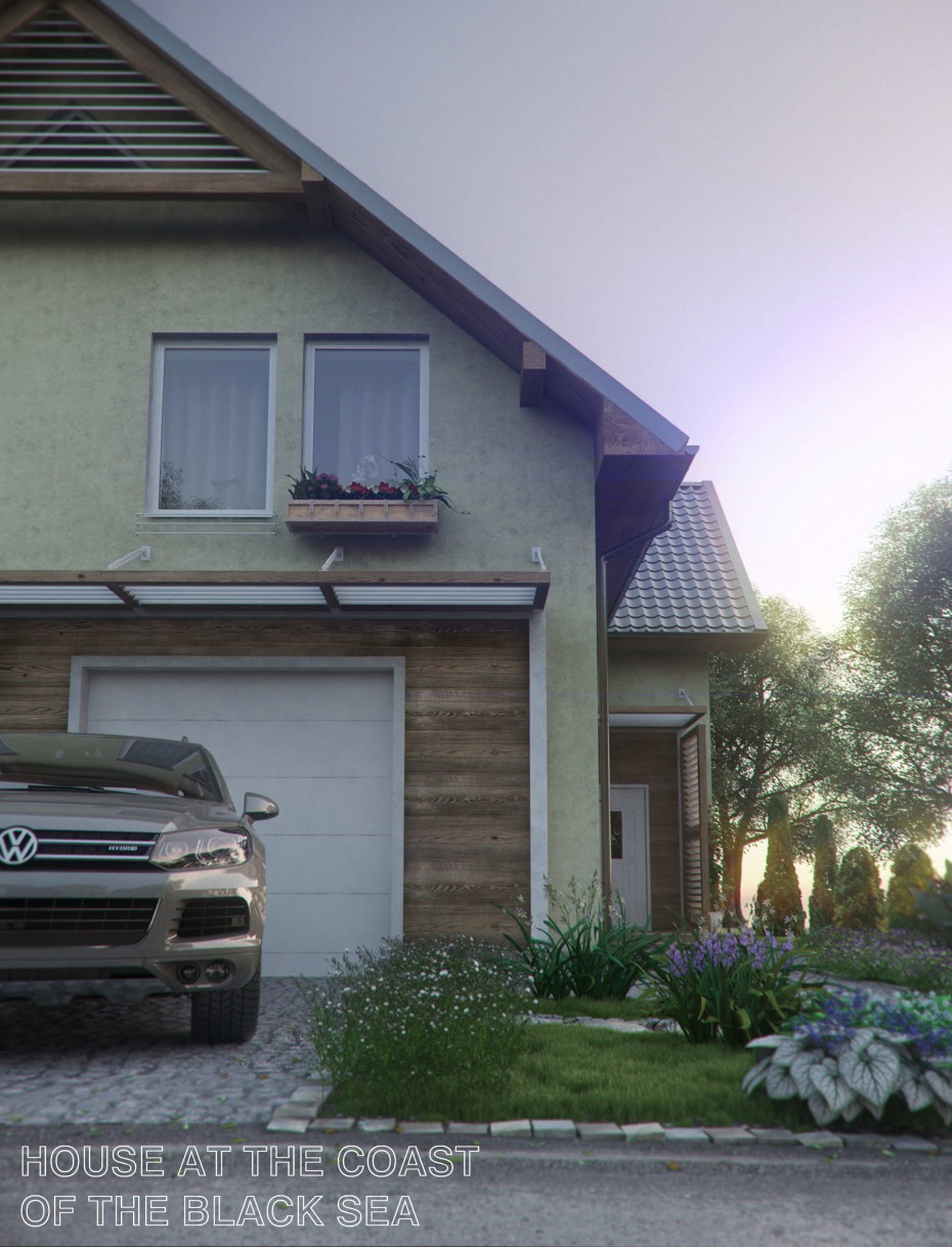 3d visualization of the project in the sunrise 3d max, render vray of rekkosta