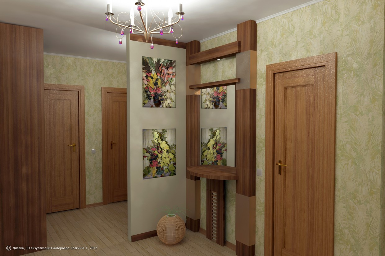 Hallway 2  in  3d max   vray  image
