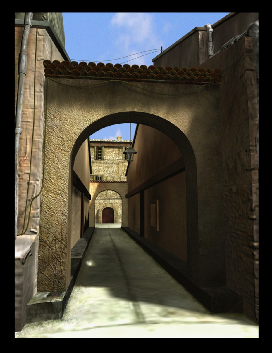 A lane in 3d max mental ray image