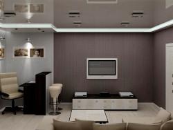 Cozinha sala de estar para um casal