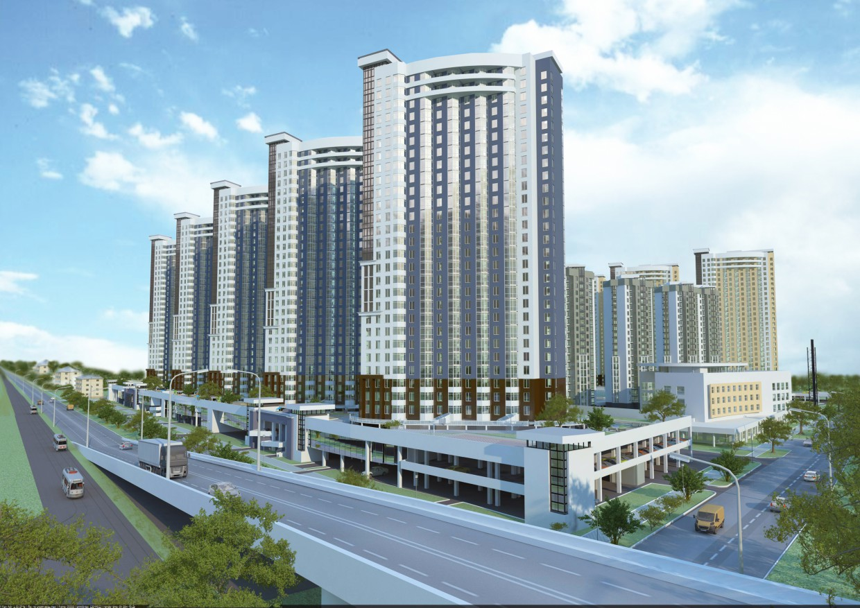 Residential Complex in 3d max vray 2.0 image