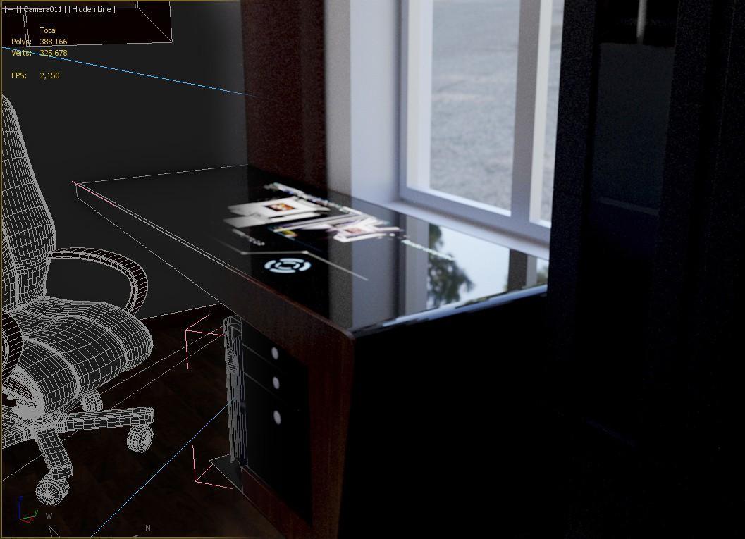 Стильный рабочий стол - гаджет в 3d max Other изображение