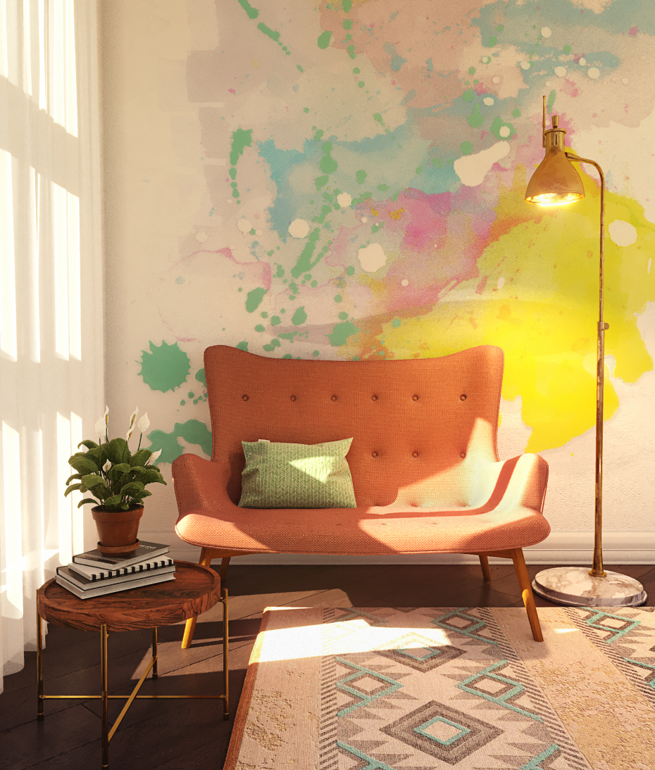 Watercolor in 3d max corona render image