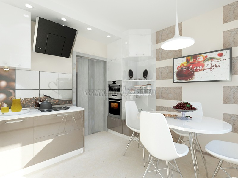 3d visualization of the project in the Kitchen Interior 3d max, render vray of Дизайн-лаборатория Hi-Tech Interior