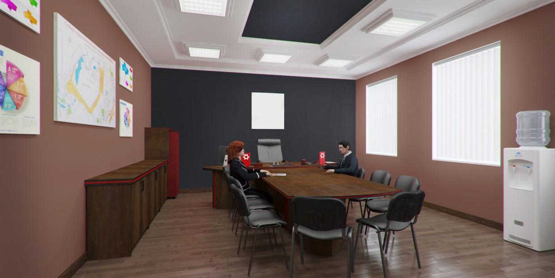 imagen de  Proyecto de diseño de un enfriador de agua para oficina  en  3d max   vray