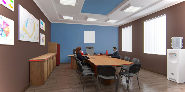 Дизайн проект водяного кулера для офиса в 3d max vray изображение