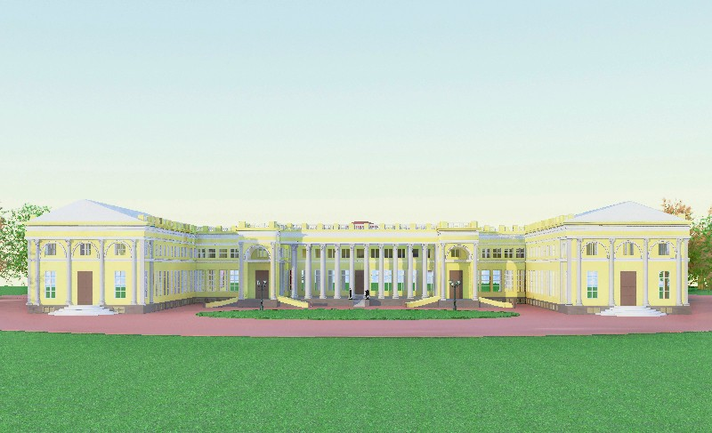 "3d visualization of the project in the Alexander Palace ""Tsarskoye Selo"" 3d max, render vray of AnanasAnastas"