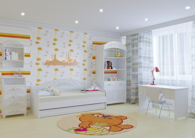 """Children's bedroom """"Sleepyhead"""" in 3d max corona render image"""