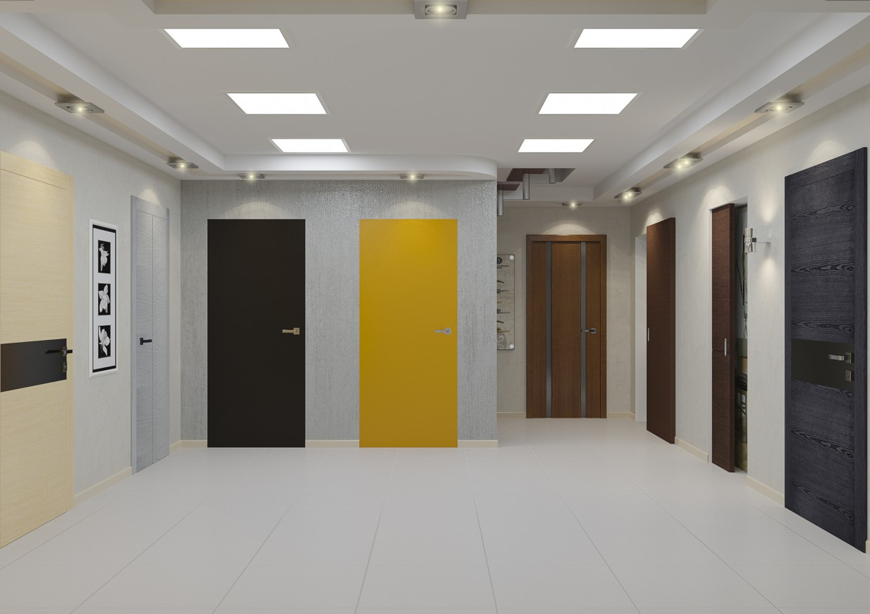 Interior doors in 3d max corona render image
