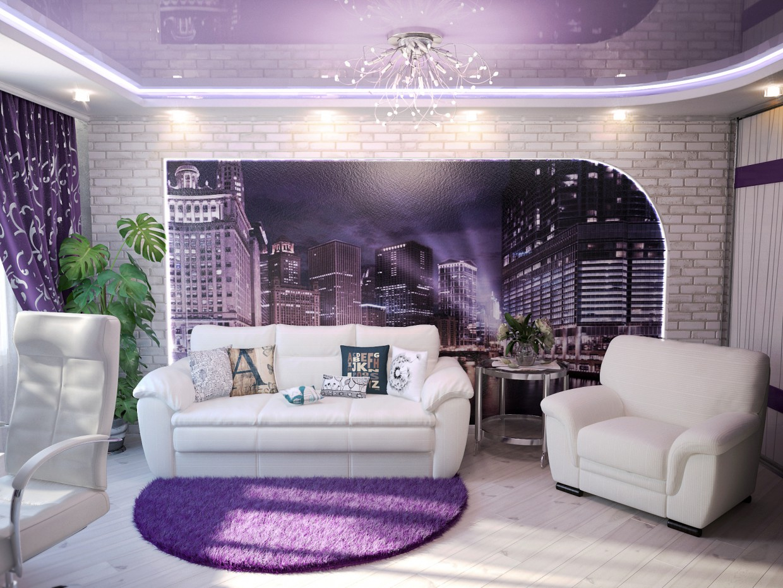 visualización 3D del proyecto en el Dormitorio 3d max render vray winter