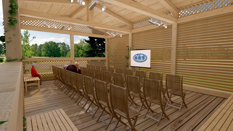imagen de Muebles de jardín madera en 3d max vray