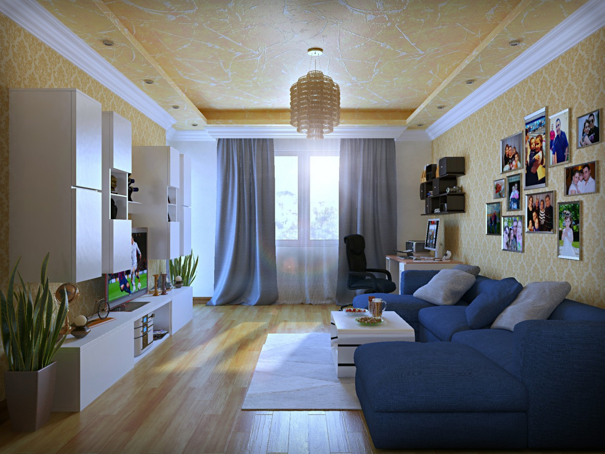DESIGN OF LIVING ROOM in 3d max vray 2.5 image